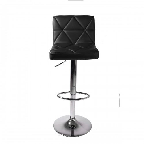 Black PU Leather Adjustable Swivel Bar Stool C8541K