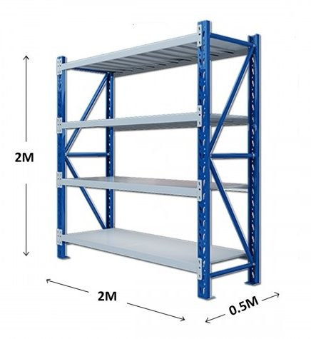 2M Light Duty Metal Steel Racking For Garage Home Workshop Shelf Storage 20205L