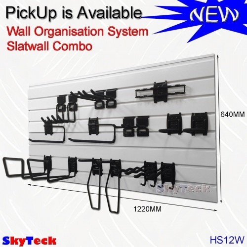 Garage Slatwall Combo Complete System HS12W