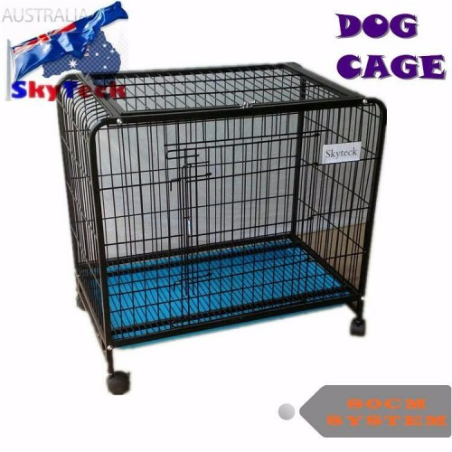 80cm Metal Pet Cage With Wheels CD080