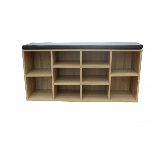 10 Slot Seated Shoe Shelf Cabinet Storage Rack KL004