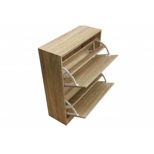 2 Compartment Shoe Cabinet Storage Rack KL006