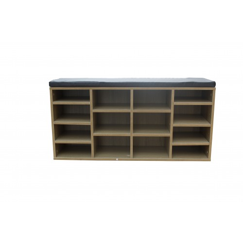 14 Slot Seated Shoe Shelf Cabinet Storage Rack KL005