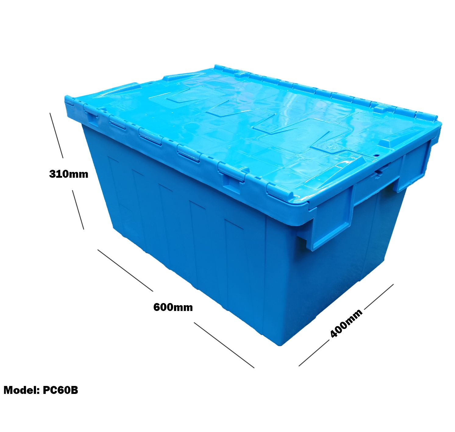 Plastic Container Storage Chest Tub with Lid PC60B