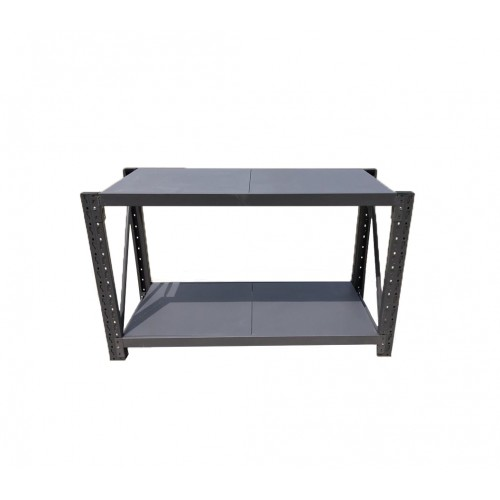 2M Heavy Duty Metal 2 Tier Workbench Unit Charcoal 6920K