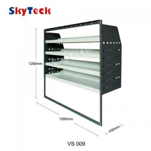 Metal Van Shelving 4 Tier Shelf Complete Unit 126cm x 129cm x 43cm VS009 (HALF LEG)