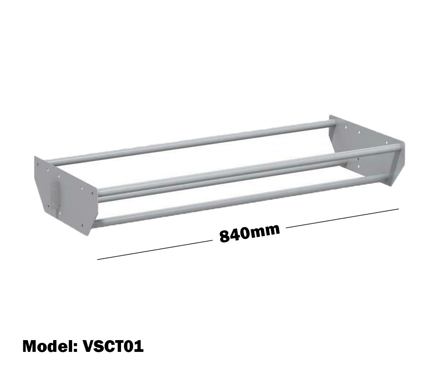 Van Shelving 840mm(L) Cable Tray For Van Shelving System VSCT01