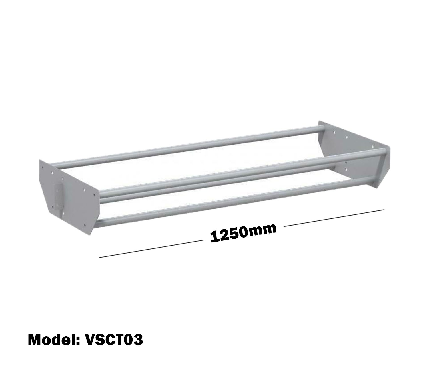 Van Shelving 1250mm(L) Cable Tray For Van Shelving System VSCT03