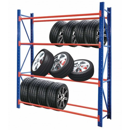 Heavy Duty Tyre Rack 2M x 2.4M Blue & Orange