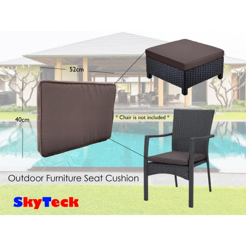 Grey Water-Proof Replacement Seat Cushion For Indoor/Outdoor Furniture