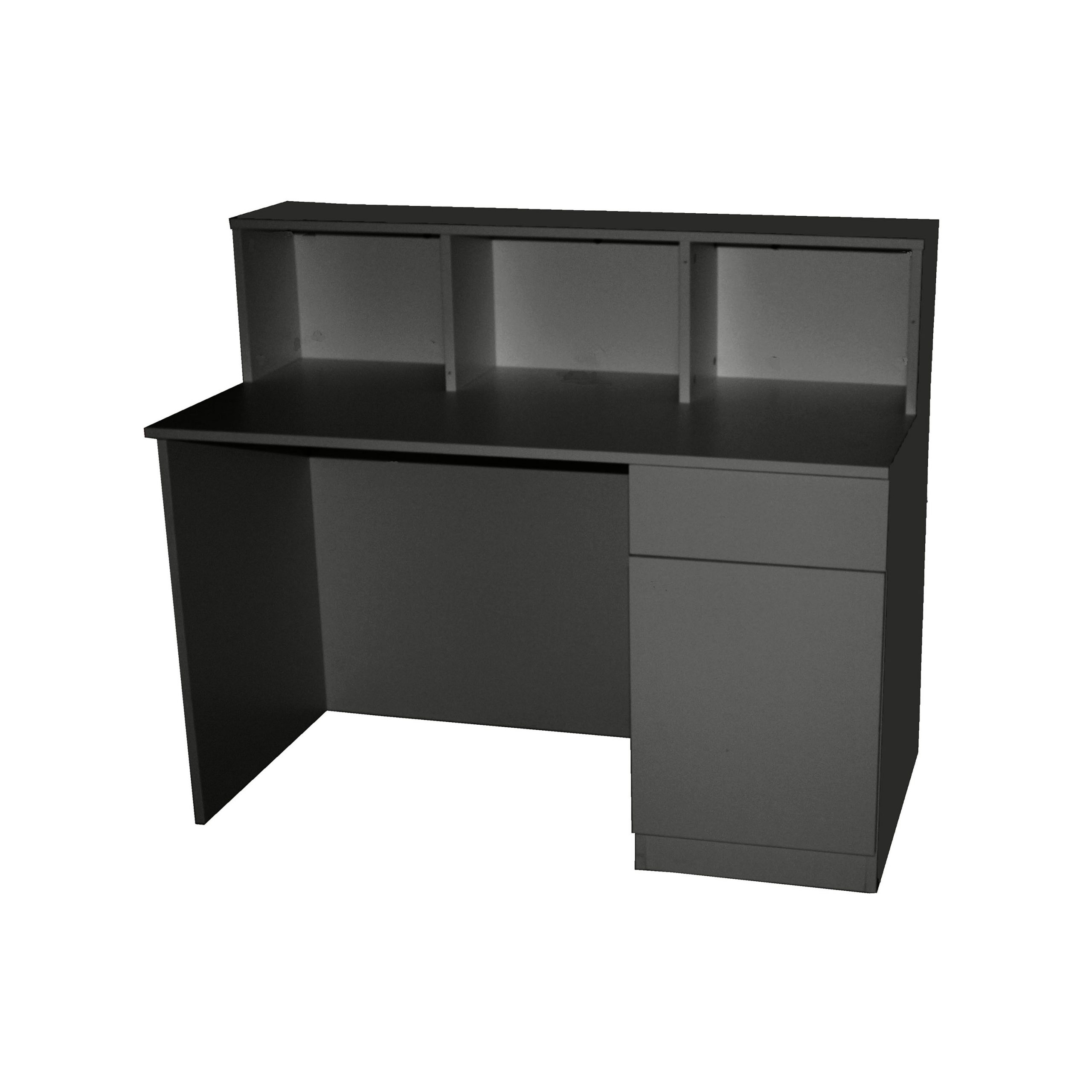 Brand New Small Charcoal Reception Desk Counter 1.2M