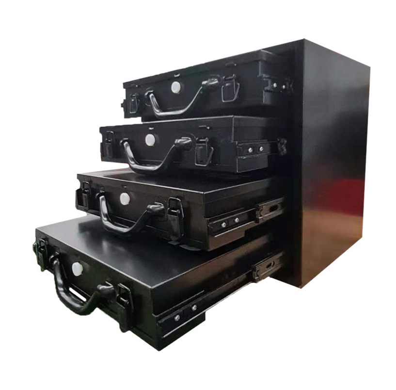 4x Large Removable Tool Boxes Metal Compartment Toolbox Drawer