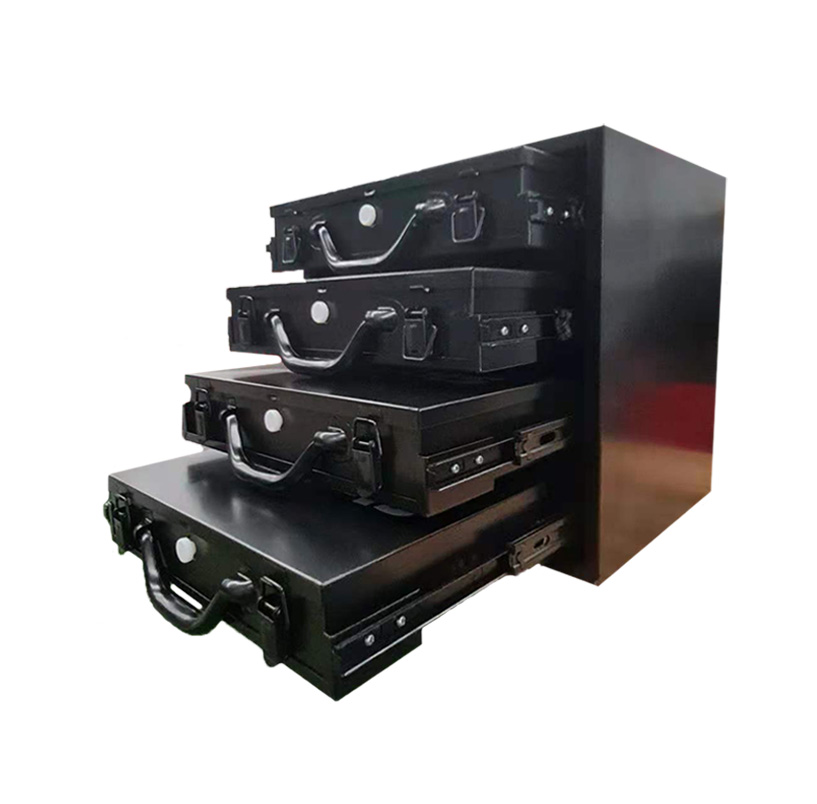 4x Medium Removable Tool Boxes Metal Compartment Toolbox Drawer