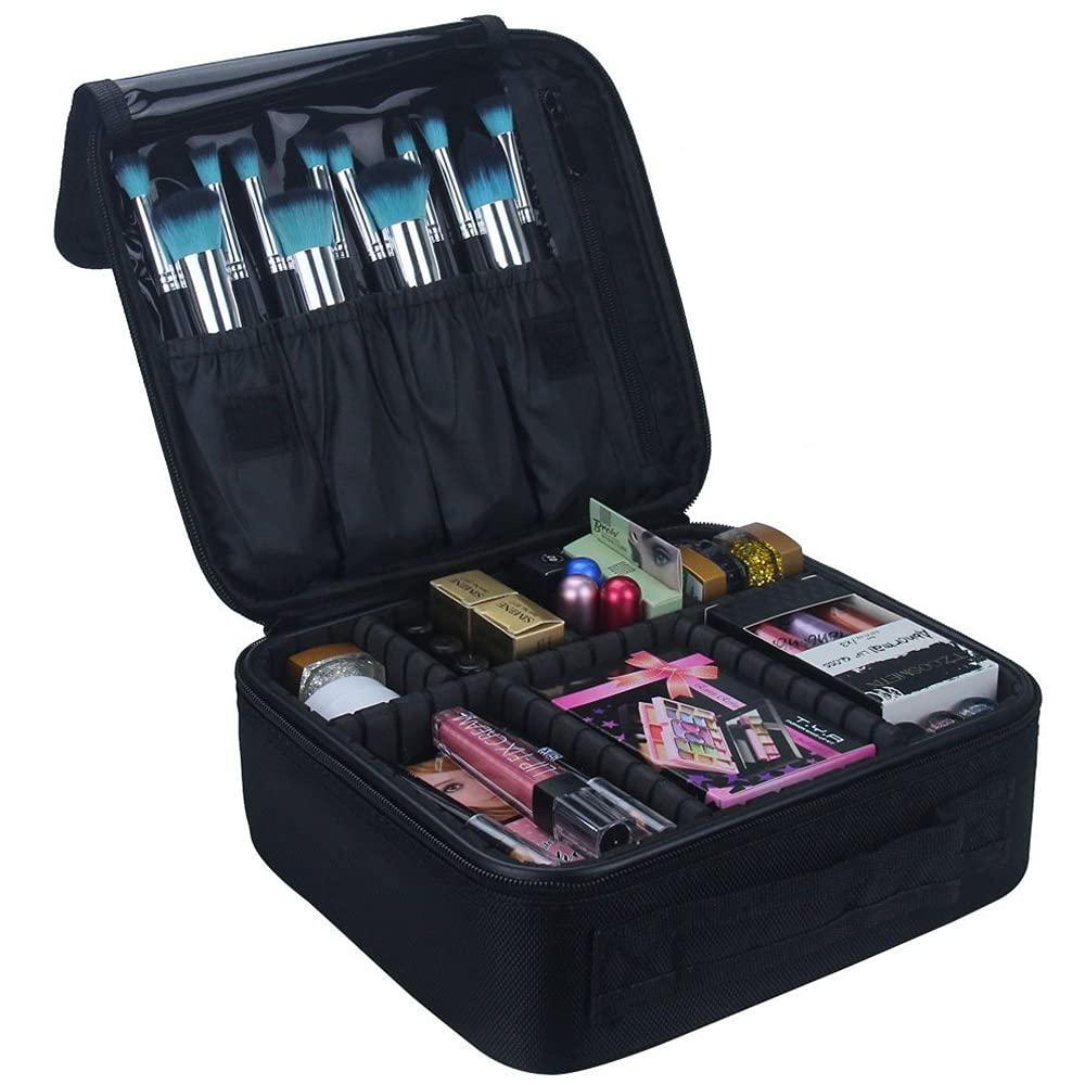 Professional Cosmetic Makeup Carry Case Organizer Bag With Dividers MUB003