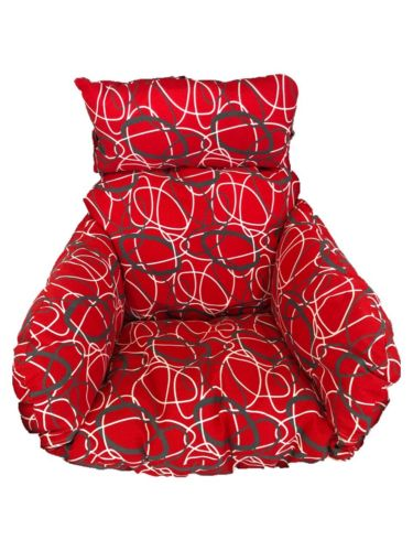 Brand New Replacement Cushions for Swinging Egg Chairs (CUSHION ONLY) RED OVAL